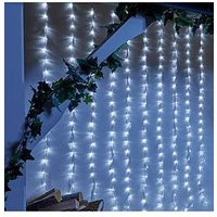 Product photograph showing 240 White Led Waterfall Indoor Outdoor Christmas Lights