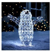 Product photograph showing Beaded Baby Penguin Indoor Outdoor Christmas Light