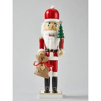 Product photograph showing Wooden Santa Nutcracker Christmas Ornament