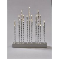 Product photograph showing Silver Tube Table Lights Christmas Decoration
