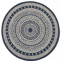 Product photograph showing County Circles Indoor Outdoor Rug