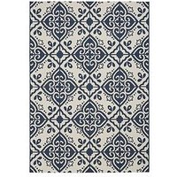 Product photograph showing Moroccan Tile Flatweave Indoor Outdoor Rug