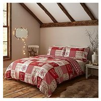 Product photograph showing Catherine Lansfield Let It Snow Christmas Duvet Cover Set