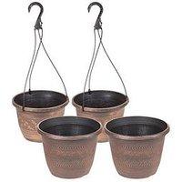 Product photograph showing Acorn Set 2 X Baskets 2 X Planters 10inch