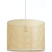 Product photograph showing Rattan Easy Fit Pendant Light Shade