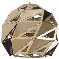 Product photograph showing Gia Faceted Metal Pendant Ceiling Light