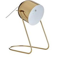 Product photograph showing Eden Metal Desk Lamp - Gold