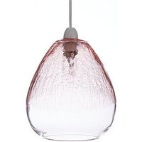 Product photograph showing Bella Crackle Glass Easyfit Shade