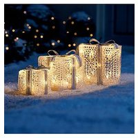 Product photograph showing Noma Set Of 3 Indoor Outdoor Parcel Christmas Lights