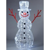 Product photograph showing Indoor Outdoor Acrylic Snowman With 80 Twinkling Led Lights