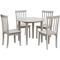 Product photograph showing New Sophia 73 8 Cm Round Dining Table 4 Chairs