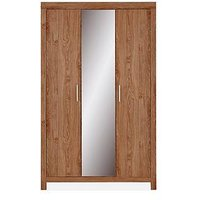 Product photograph showing Cuba 3 Door Mirrored Wardrobe