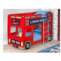 Product photograph showing Julian Bowen London Bus Bunk Bed