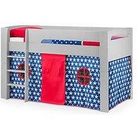 Product photograph showing Julian Bowen Nova Midsleeper Bed With Blue Star Tent