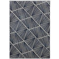 Product photograph showing Midnight Rose Triangles Rug