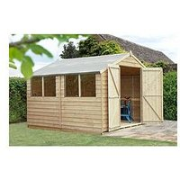 Product photograph showing Forest Overlap Pressure Treated 10x10 Apex Shed