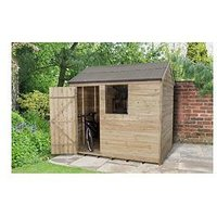 Product photograph showing Forest Overlap Pressure Treated 8x6 Reverse Apex Shed