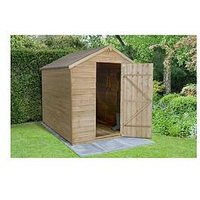 Product photograph showing Forest Overlap Pressure Treated 8x6 Apex Shed