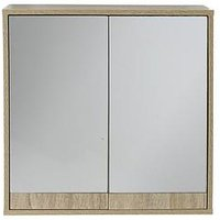 Product photograph showing Lloyd Pascal Canyon Mirrored Bathroom Wall Cabinet
