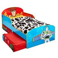 Product photograph showing Toy Story Kids Toddler Bed With Underbed Storage Drawers