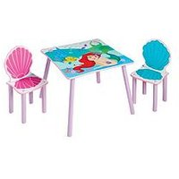 Product photograph showing Disney Princess Ariel Kids Table And 2 Chairs By Hellohome