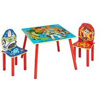 Product photograph showing Toy Story 4 Kids Table And 2 Chairs Set By Hellohome