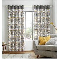 Product photograph showing Catherine Lansfield Annika Eyelet Curtains