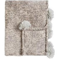 Product photograph showing Cascade Home Marble Pom Pom Throw
