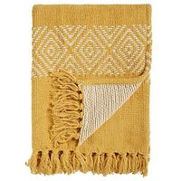 Product photograph showing Cascade Home Diamond Chenille Throw