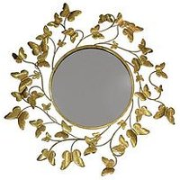 Product photograph showing Arthouse Gold Metallic Butterflies Mirror