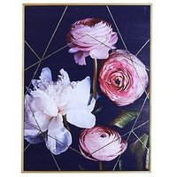 Product photograph showing Arthouse Dark Floral Capped Canvas Wall Art