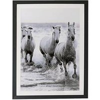 Product photograph showing Arthouse Wild Horses Framed Print With Glitter