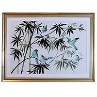 Product photograph showing Arthouse Oriental Birds Framed Print