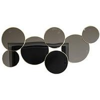 Product photograph showing Arthouse Asymmetric Circular Mirrors Wall Art