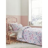 Product photograph showing Bianca Cottonsoft Woodland Unicorn And Stars Duvet Cover Set