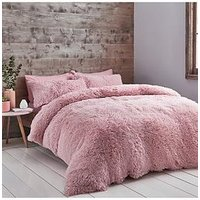 Product photograph showing Catherine Lansfield Cuddly Faux Fur Duvet Cover