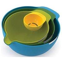 Product photograph showing Joseph Joseph Nest Mix 4-piece Mixing Bowl And Egg Yolk Separator Set