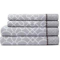 Product photograph showing Bianca Cottonsoft Cassia Border 4-piece 100 Cotton Towel Bale