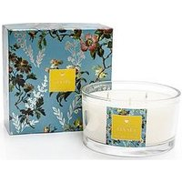 Product photograph showing Oasis Home Leighton Freesia And Musk Boxed 3-wick Candle