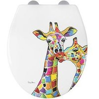 Product photograph showing Croydex Steven Brown Francie And Josie Mczoo Toilet Seat