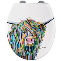 Product photograph showing Croydex Steven Brown Angus Mcmoo Toilet Seat