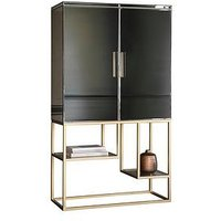 Product photograph showing Hudson Living Pippard Cocktail Cabinet Ndash Champagne