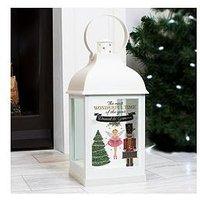 Product photograph showing Personalised The Nutcracker Led Lantern