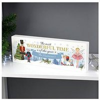 Product photograph showing Personalised The Nutcracker Wooden Shelf Block