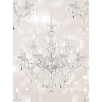 Product photograph showing Sublime Chandelier Beige Wallpaper