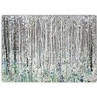 Product photograph showing Graham Brown Watercolour Woods Canvas With Metallic