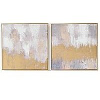 Product photograph showing Graham Brown Laguna Mist Handpainted Canvas In Boxed Frame