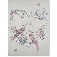 Product photograph showing Graham Brown Elegant Songbirds Canvas With Metallic Glitter