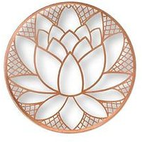 Product photograph showing Graham Brown Lotus Blossom Metal Wall Art