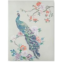Product photograph showing Graham Brown Pretty Peacock Canvas With Metallic